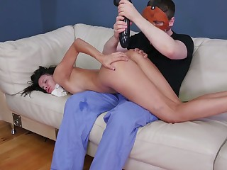 Anal banged with lots of dildos submissive Rude Food gives a peculiar rimjob
